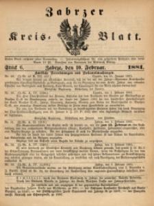 Zabrzer Kreis-Blatt, 1881, St. 6