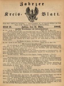 Zabrzer Kreis-Blatt, 1881, St. 13