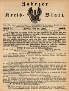 Zabrzer Kreis-Blatt, 1881, St. 24
