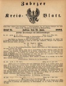 Zabrzer Kreis-Blatt, 1881, St. 25