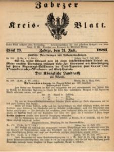Zabrzer Kreis-Blatt, 1881, St. 29