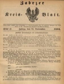 Zabrzer Kreis-Blatt, 1881, St. 47