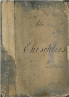 Acta betreffend Eheschliesung von 1880 bis