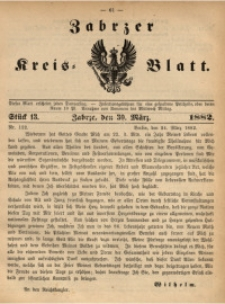 Zabrzer Kreis-Blatt, 1882, St. 13
