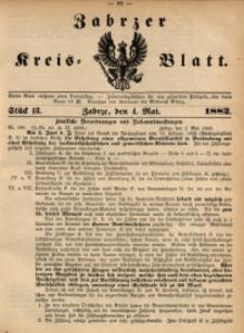 Zabrzer Kreis-Blatt, 1882, St. 18