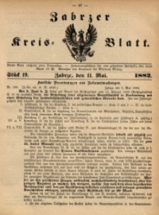Zabrzer Kreis-Blatt, 1882, St. 19