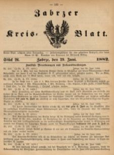Zabrzer Kreis-Blatt, 1882, St. 26