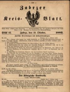 Zabrzer Kreis-Blatt, 1882, nr 42