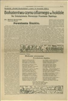 Artykuły i utwory okolicznościowe na Dziesięciolecie Pierwszego Powstania Śląskiego