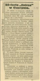 """25-lecie """"Znicza"""" w Cieszynie"""
