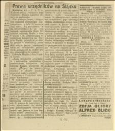 Prawa urzędników na Śląsku