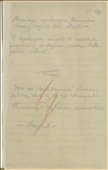 Notatki T. Regera o wydarzeniach i sprawach partyjnych oraz o sporze polsko-czeskim