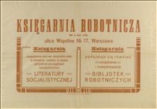 Afisz propagandowy Księgarni Robotniczej w Warszawie