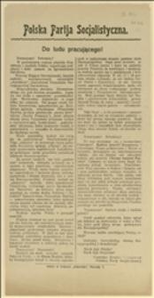 Odezwa CKW PPS wydana w związku z zabójstwem prezydenta Narutowicza