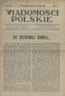 Wiadomości Polskie, 1918, R. 4, nr 175