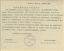 Zaproszenie OKR PPS na okręg Cieszyński na posiedzenie pełnego OKR Śląska Cieszyńskiego w dniu 29.12.1924 r. - Bielsko, 19.12.1924 r.