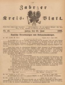 Zabrzer Kreis-Blatt, 1899, St. 25