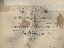 La violette rondeau ou polonaise pour le piano-forte, oeuvre 11