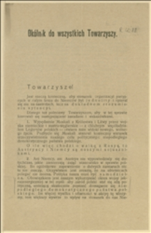 Odezwa CKR PPS w sprawie walki z nadużyciami Niemiec i walki o niepodległą demokratyczną Polskę