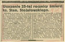 Uczczenie 25-tej rocznicy śmierci ks. Stan. Stojałowskiego