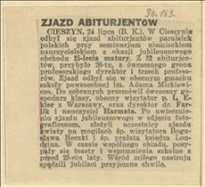 Zjazd abiturientów paralelek polskich przy niemieckim seinarium nauczycielskim w Cieszynie