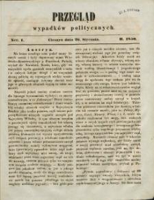 Przegląd Wypadków Politycznych, 1850, Nry 1-12