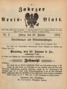Zabrzer Kreis-Blatt, 1914, St. 4
