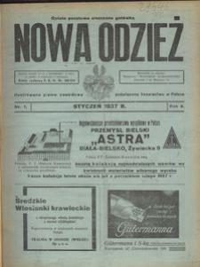 Nowa Odzież, 1937, R. 4, nr 1