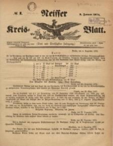 Neisser Kreis-Blatt, 1874, Jg. 33, nr1
