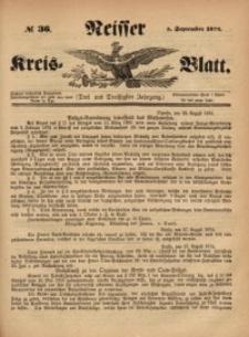 Neisser Kreis-Blatt, 1874, Jg. 33, nr36