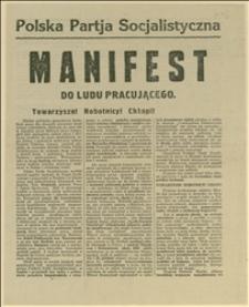 Manifest PPS wydany w związku z ustąpieniem ministrów z PPS z rządu Skrzyńskiego