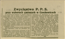 """Wycinki z """"Gazety Robotniczej"""" o zwycięstwie PPS w wyborach gminnych w Czechowicach"""