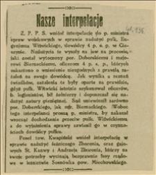 Wycinek z gazety o nadużyciach pułk. Eugeniusza Witwickiego z 4 p.s.p. w Cieszynie