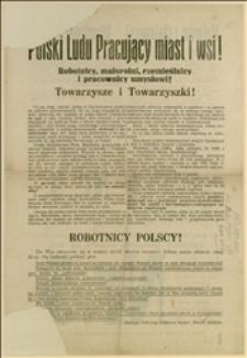 Odezwa Polskiej Socjalistycznej Partii Robotniczej w Czechosłowacji wydana przed wyborami do Zgromadzenia Narodowego w dniu 27.10.1929 r., wzywająca do głosowania na listę wyborczą nr 5