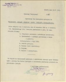 Zaproszenie na posiedzenie Zarządu PPSD w dniu 21.04.1918 r. w Krakowie - Kraków, 09.04.1918 r.