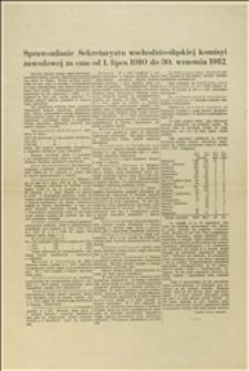 Sprawozdanie Sekretariatu wschodnio-śląskiej komisji zawodowej - 01.07.1910-30.09.1912 r.