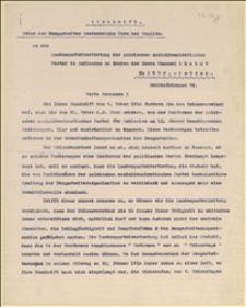 Pismo Union der Bergarbeiter Oesterreichs przesłane do Zarządu PPSD Śląska i Moraw w sprawie zwołania V Zjazdu Unii Górników