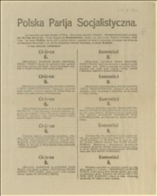 """Ulotka przedwyborcza PPS przeprowadzająca analogię między """"Chjeną"""" a komunistami i wzywająca do głosowania w wyborach do Sejmu i Senatu R.P. w dniach 5. i 12.11.1922 r. na listę wyborczą Nr 2"""