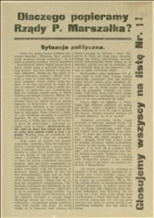 """Odezwa wydana przez """"Powiatowy Komitet Wyborczy N.Ch.Z.P."""" wzywająca do głosowania na listę wyborczą Nr 1"""