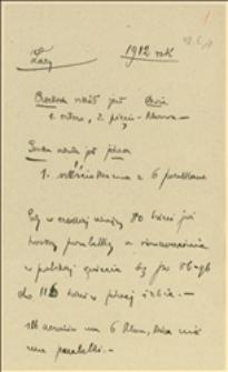 Notatki T. Regera o stanie szkolnictwa na terenie gminy Łazy w 1912 r.
