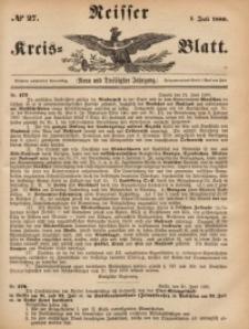 Neisser Kreis-Blatt, 1880, Jg. 39, nr27