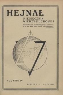 Hejnał, 1932, R. 4, z. 7