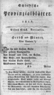 Schlesische Provinzialblätter, 1816, 64. Bd., 11. St.: November