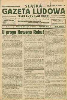 Śląska Gazeta Ludowa, 1934, Nry 1-6, 8-11, 13-26, 28, 30, 40, 42-58
