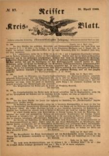 Neisser Kreis-Blatt, 1900, Jg. 59, nr17