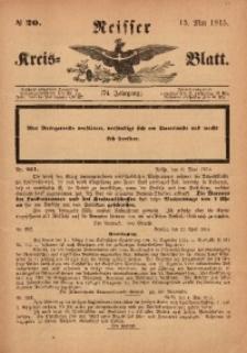 Neisser Kreis-Blatt, 1915, Jg. 74, nr20