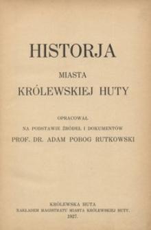 Historja miasta Królewskiej Huty