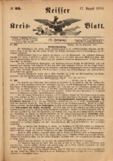 Neisser Kreis-Blatt, 1916, Jg. 75, nr33