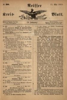 Neisser Kreis-Blatt, 1919, Jg. 78, nr20