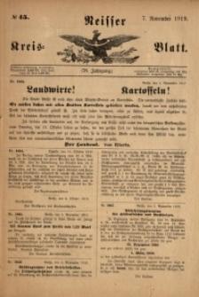 Neisser Kreis-Blatt, 1919, Jg. 78, nr45
